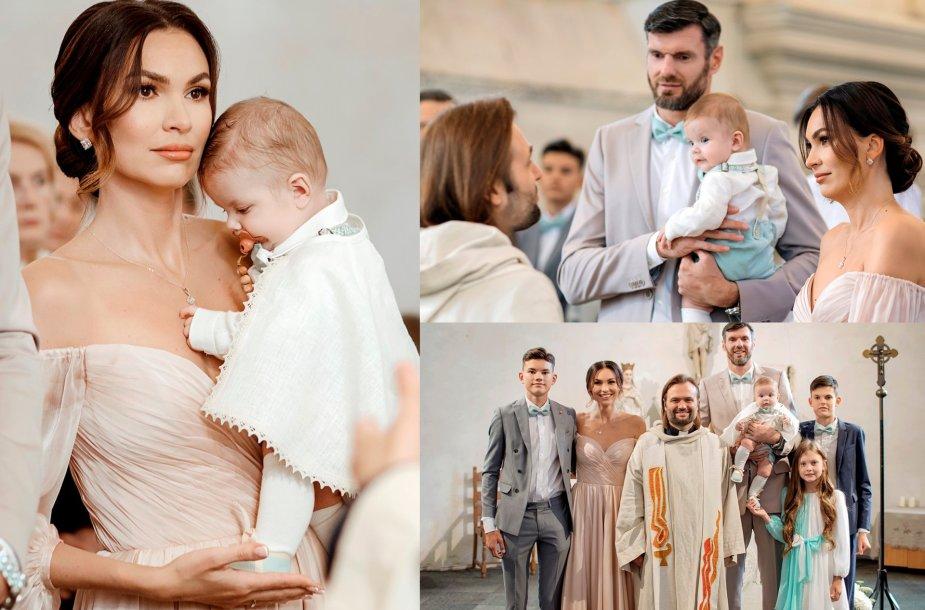 Tatjanos ir Kšištofo Lavrinovičių sūnaus Kristiano krikštynų akimirka