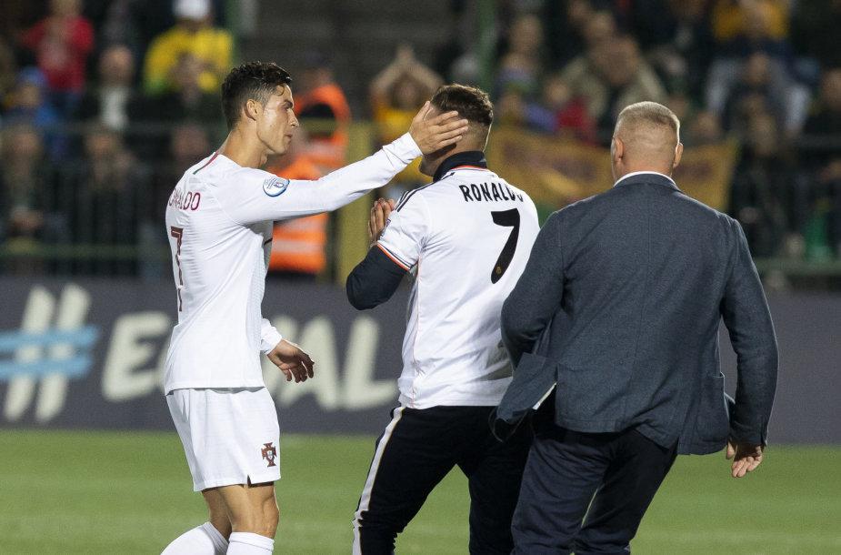 Lietuvio akibrokštas Cristiano Ronaldo nesupykdė