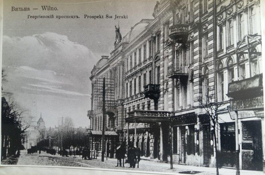 """""""Žoržo"""" viešbutis Vilniuje, kuriame buvo įsikūręs Lietuvos generalinis konuslatas."""