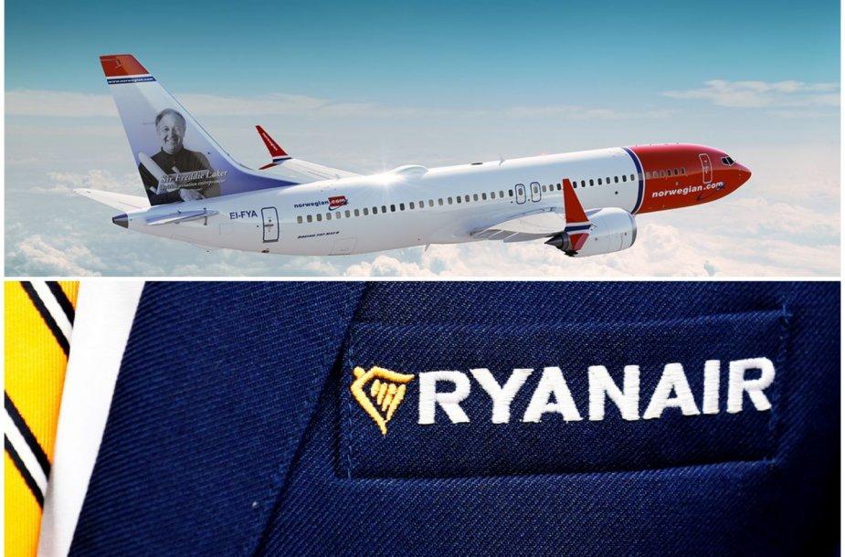 """""""Boeing 737 MAX 8"""" draudimas sukels problemų """"Norwegian"""" ir """"Ryanair"""""""