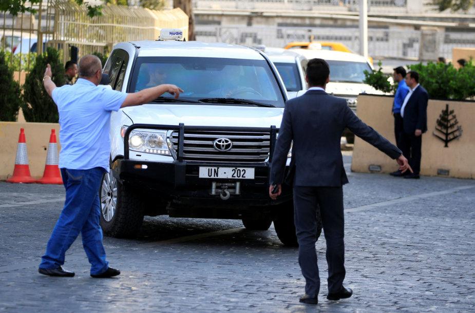 OPCW inspektoriai šeštadienį atvyko į Damaską