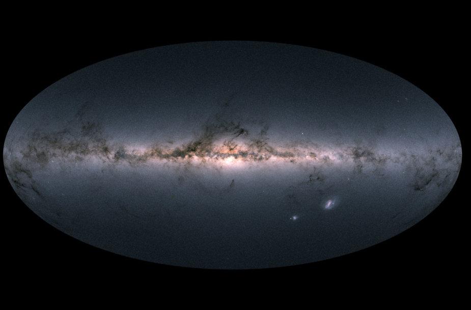 """Naujas trimatis Paukščių tako žvaigždėlapis bus """"revoliucija astronomijoje""""."""
