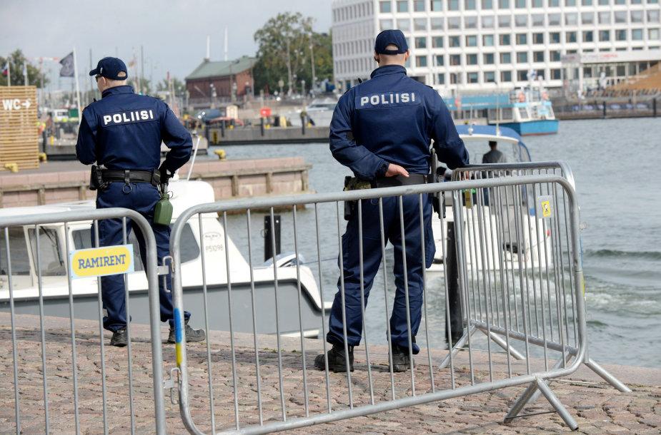 Policininkai Helsinkyje