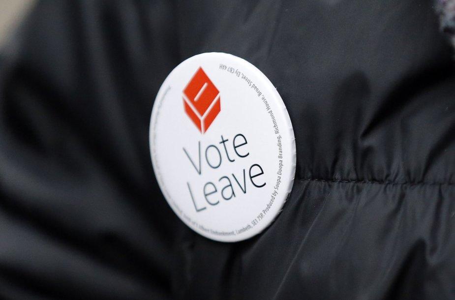 Už atsiskyrimą nuo Europos Sąjungos agituojantis lankstinukas