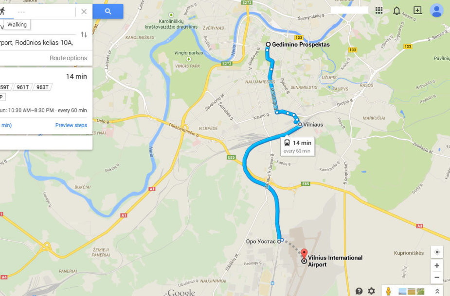 Map 60.Google Maps Mano Kad Viesuoju Transportu Vilniuje Vazinėja Tik