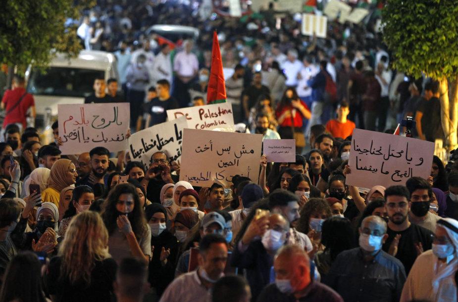 Palestiniečių protestas Ramaloje
