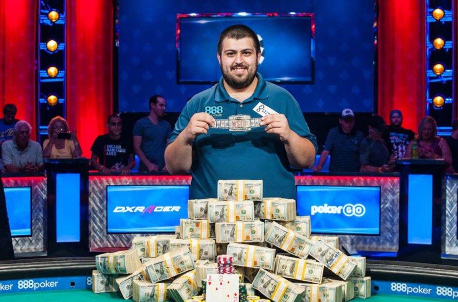 2017 m. Pasaulio pokerio čempionas Scottas Blumsteinas / organizatorių nuotr.