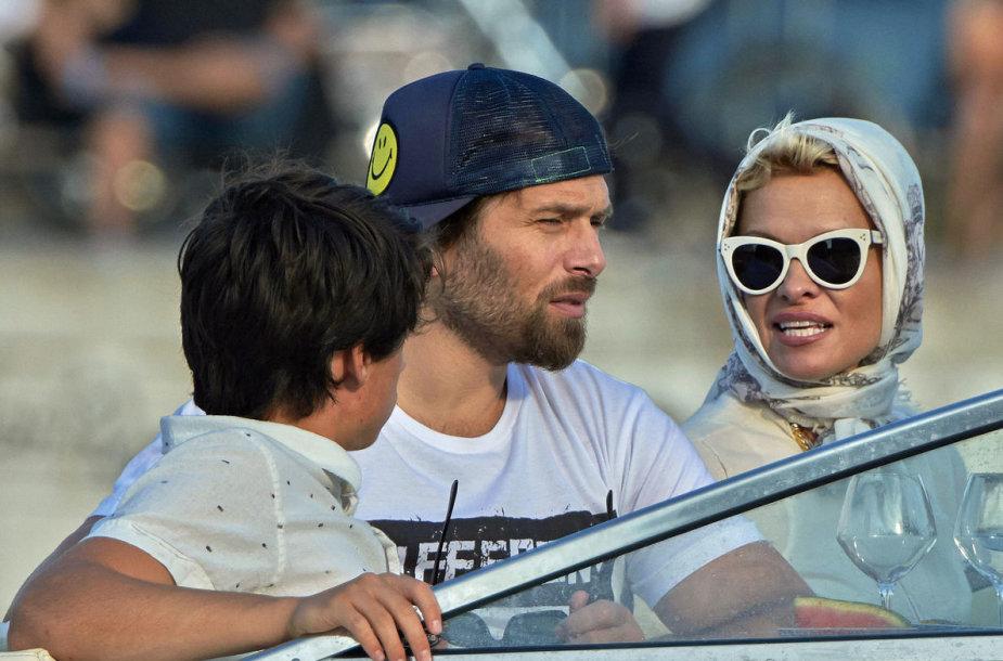 Pamela Anderson ir Rickas Salomonas Danijoje