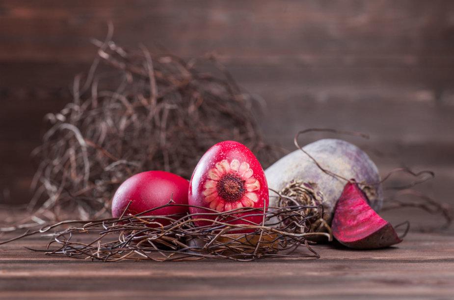 Natūraliomis priemonėmis dažytas kiaušinis