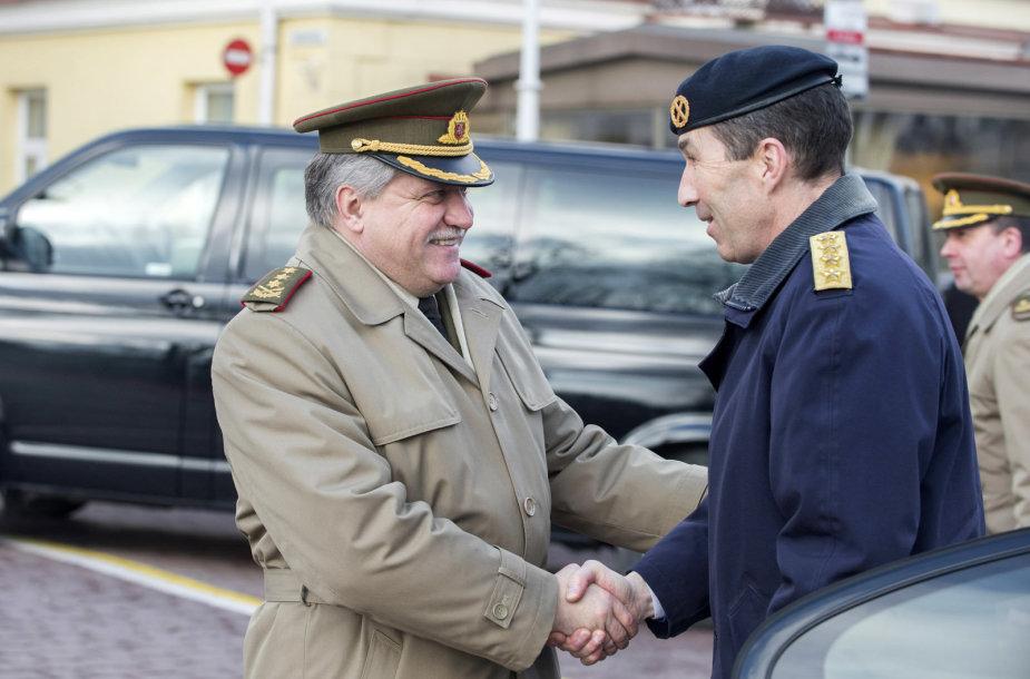 Oficialaus vizito į Lietuvą atvyko Švedijos kariuomenės vadas