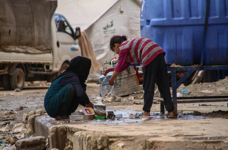 Pabėgėlių stovykla Idlibe