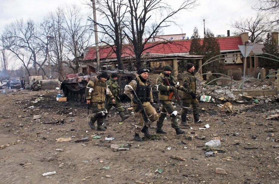 Rusijos teroristai Debalcevės mieste