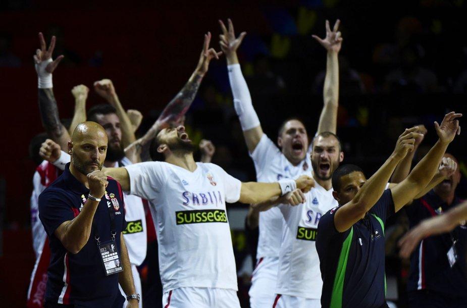 Serbijos krepšinio rinktinė sutriuškino Braziliją