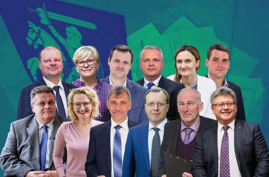 2020 metų Seimo rinkimų partijų sąrašų lyderiai