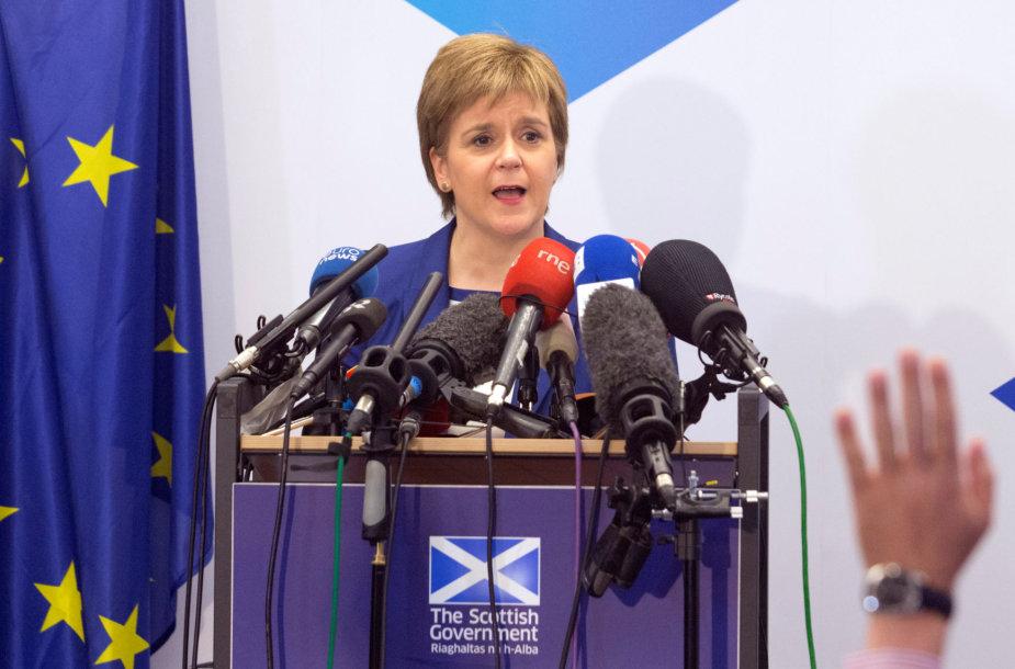 Pirmoji Škotijos ministrė Nicola Sturgeon