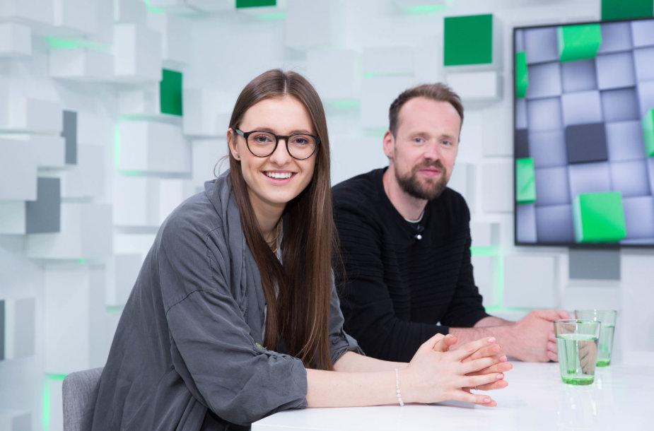 """15min studijoje – iš """"Eurovizijos"""" grįžę Ieva Zasimauskaitė ir Vytautas Bikus"""