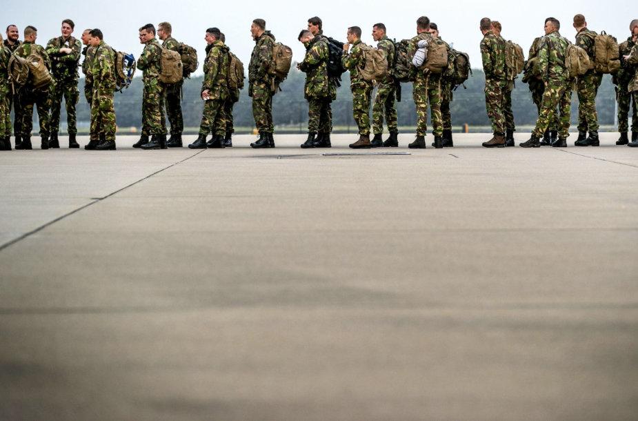"""Nyderlandų kariai išvyksta į pratybas """"Trident Juncture"""""""