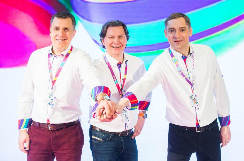 Andrius Šemeškevičius, Kęstutis Šliužas ir Norbertas Žioba
