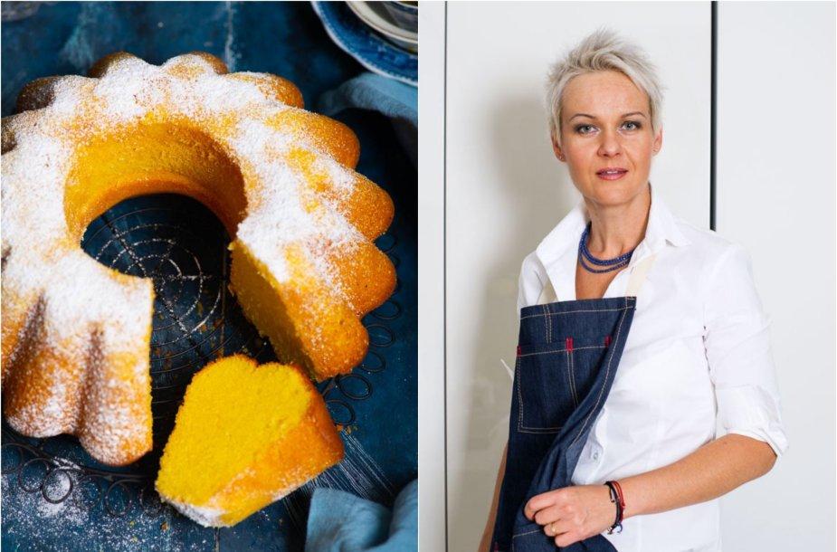 Nida Degutienė ir jos keptas braziliškas kukurūzų miltų keksas