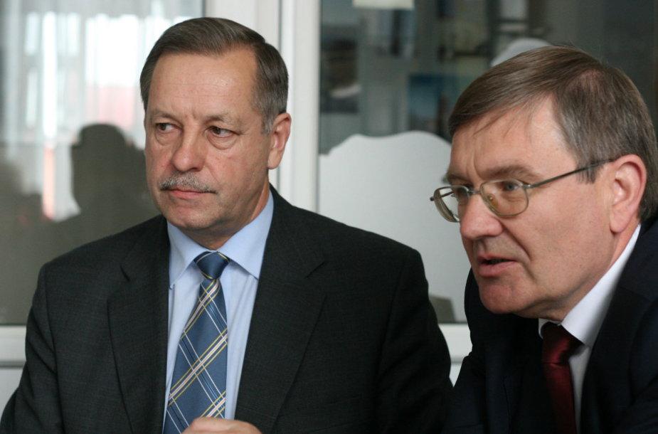 Česlovas Kasputis (kairėje) ir Justinas Sartauskas