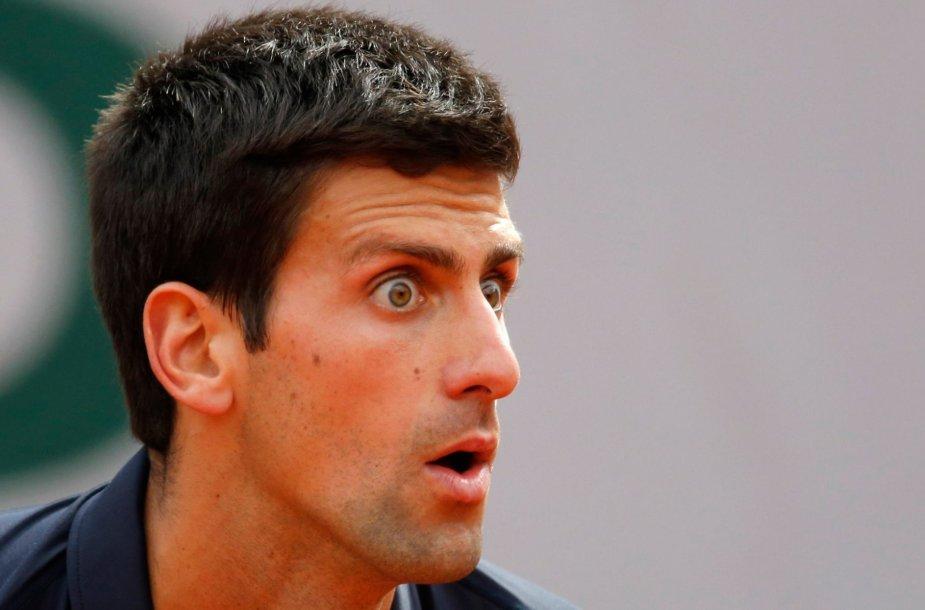 Novakas Džokovičius neteko žado išvydęs teniso triukus