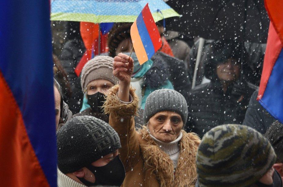 Opozicijos rėmėjai Jerevane
