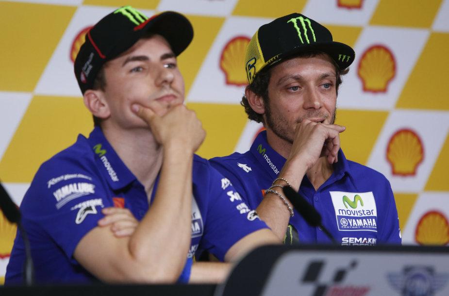 Valentino Rossi ir Jorge Lorenzo