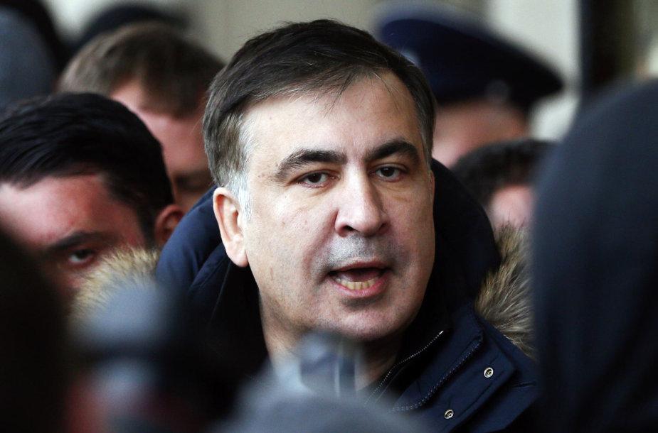 Michailas Saakašvilis vasario 9 dieną Kijeve
