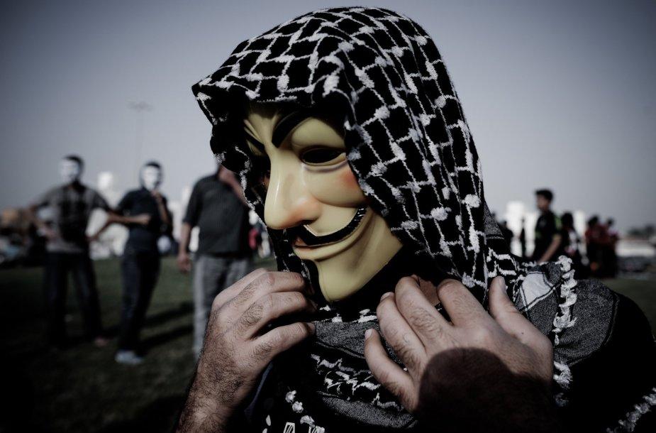 """""""Anonymous"""" simbolis – kaukė"""