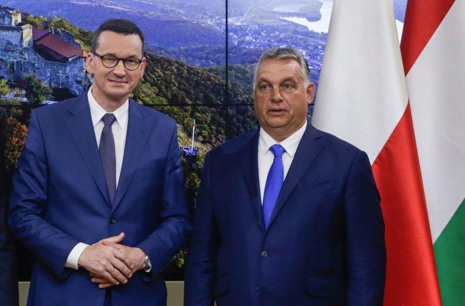 Mateuszas Morawieckis ir Viktoras Orbanas