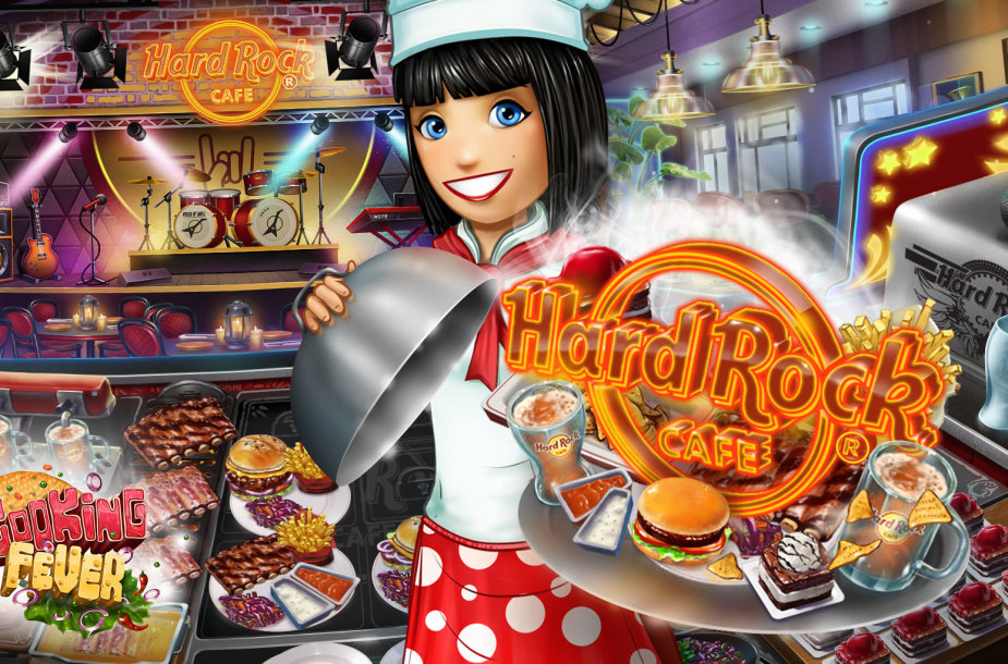 """Hard Rock Cafe"" restoranai žengia į žaidimą ""Cooking Fever"""