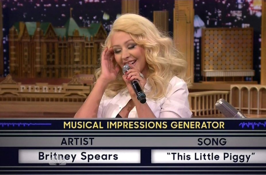 "Christina Aguilera laidoje ""The Tonight Show Starring Jimmy Fallon"""