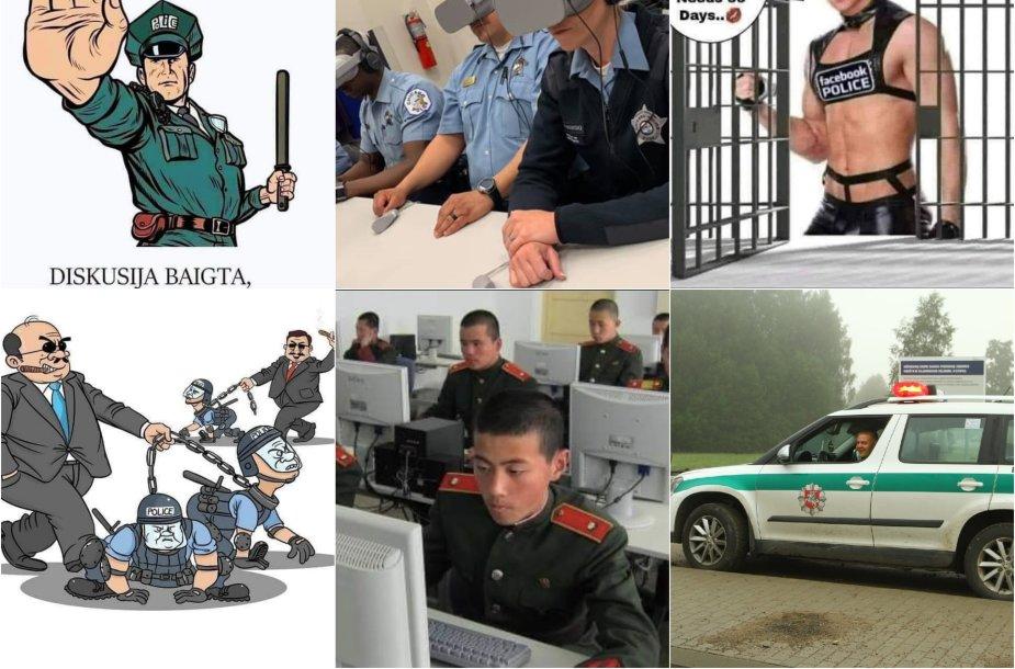 Virtualios policijos padalinys iškart sulaukė reakcijų iš visuomenės, dalis nuomonių išreikšta tokių iliustracijų forma.