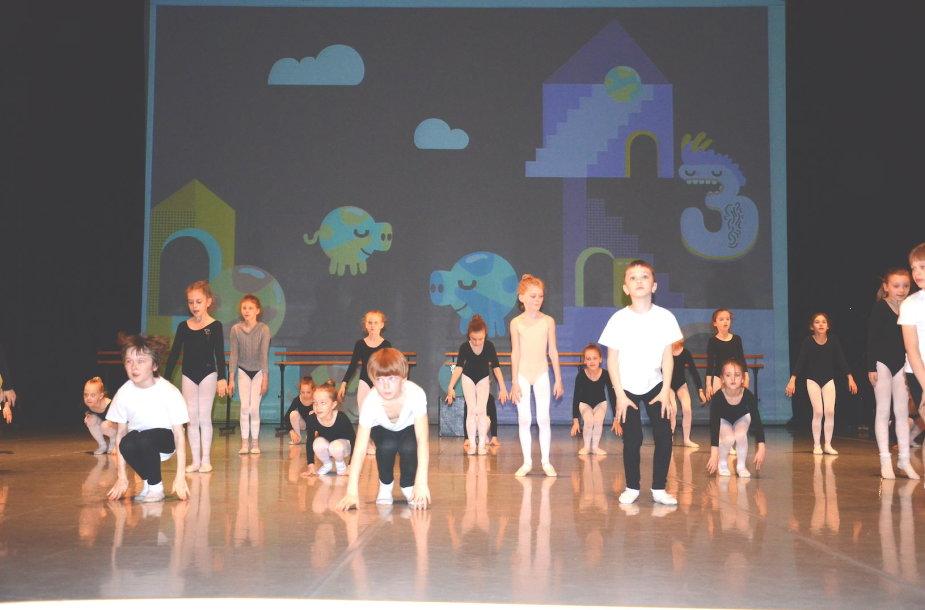 Pasiruošimas šokio spektakliui