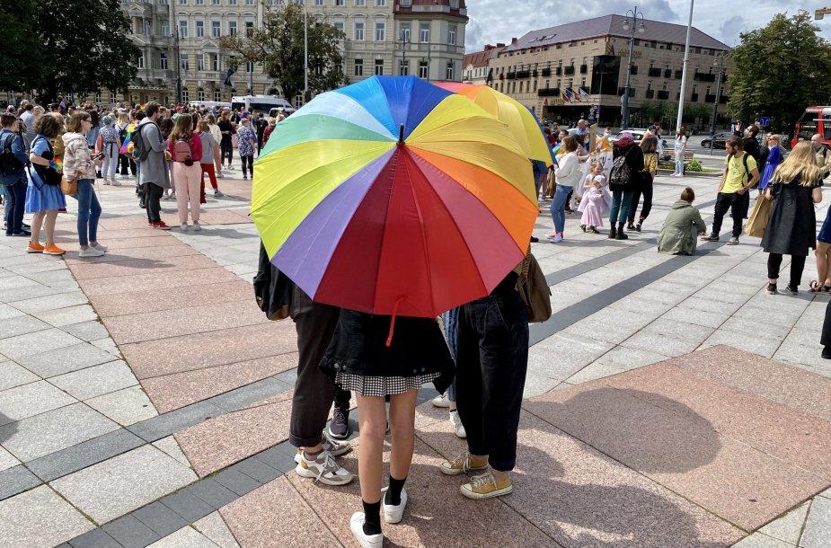 Vilniuje rengiamos LGBT eitynės už lygybę