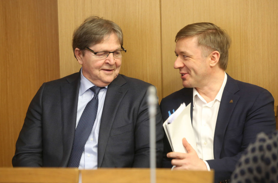 Eugenijus Jovaiša ir Ramūnas Karbauskis