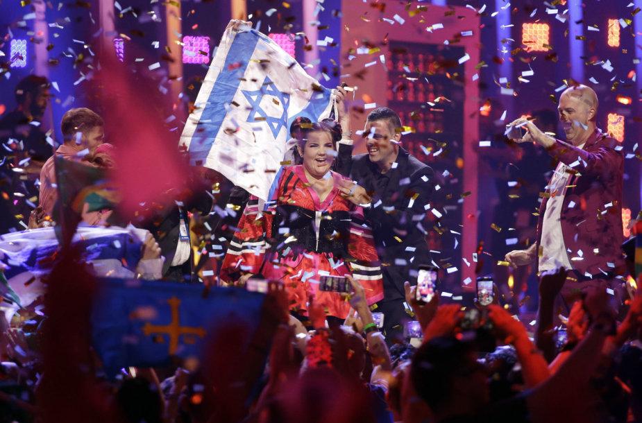 """2018 metų """"Eurovizijos"""" laimėtoja – Izraelio atstovė Netta Barzilai"""