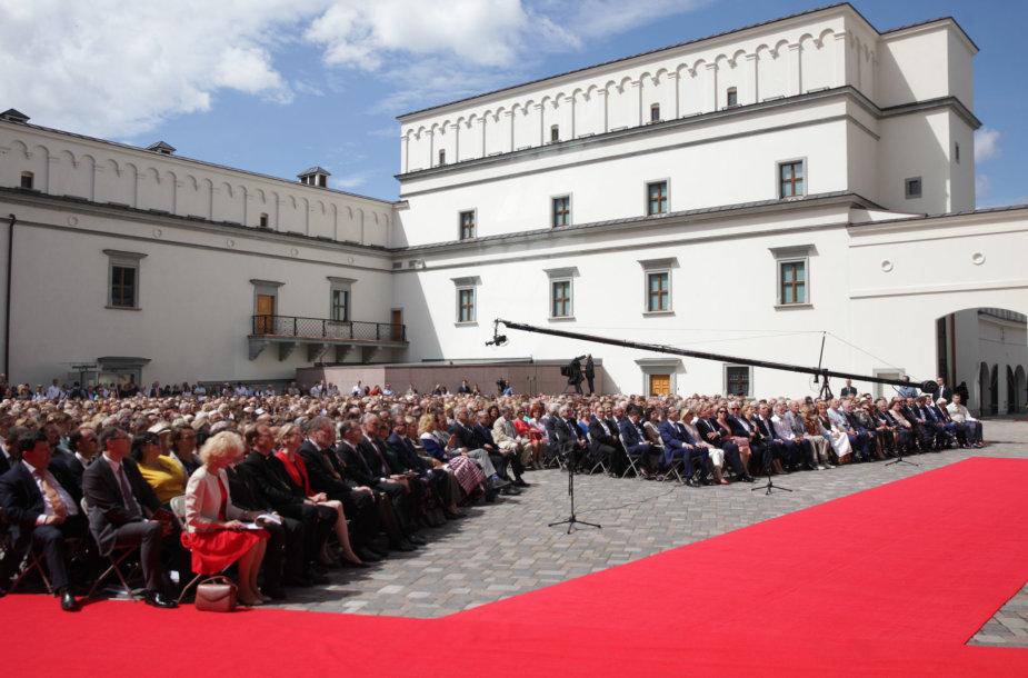 Valdovų rūmų atkūrimo pabaigtuvių iškilmės