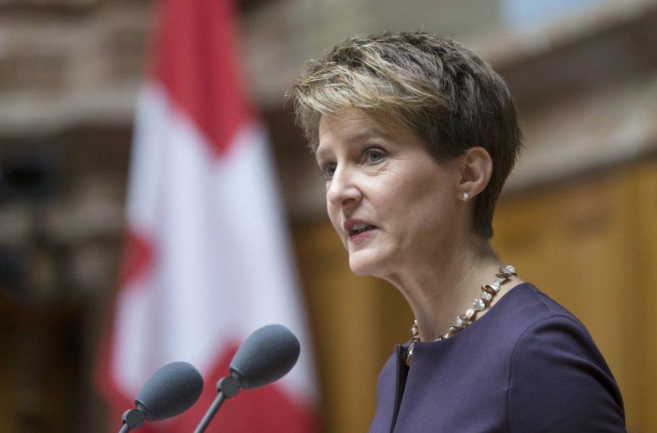 Naujai išrinkta Šveicarijos prezidentė Simonetta Sommaruga