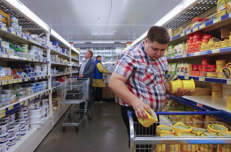 Rusijoje senka maisto produktų atsargos