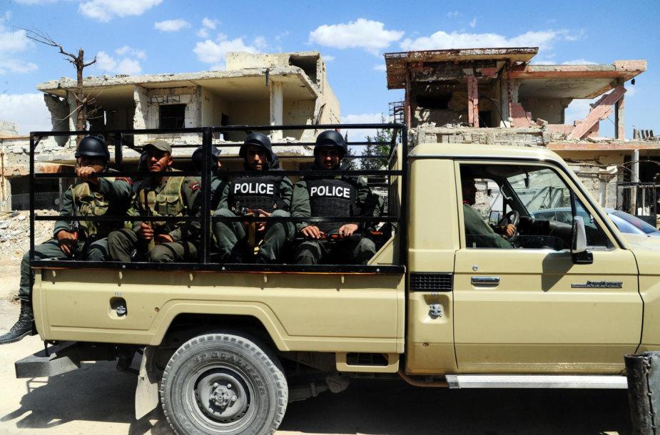 Sirijos karo policija Dumos mieste