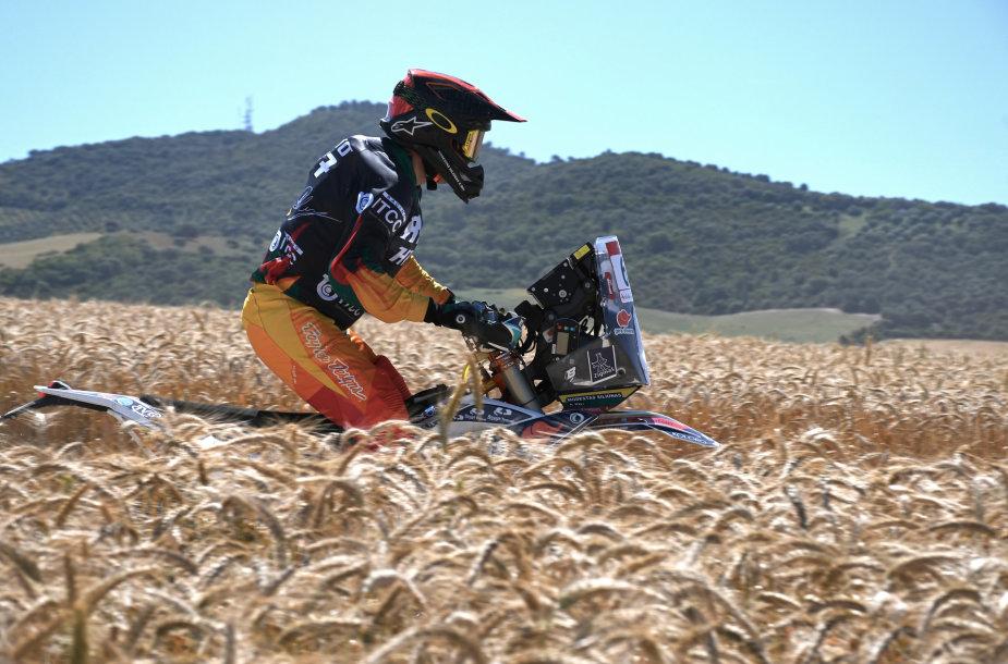 Motociklininkas Modestas Siliūnas