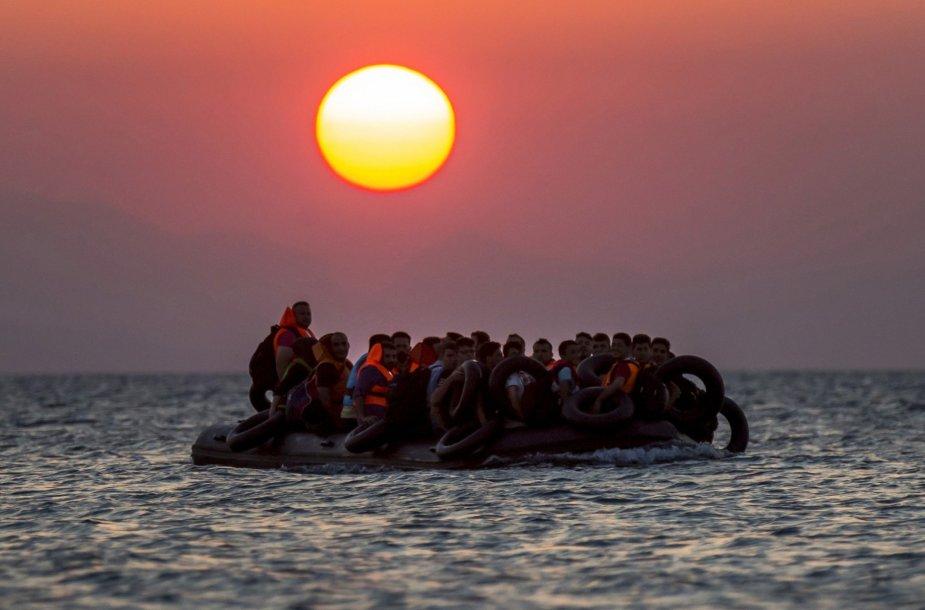 Migrantai bando pasiekti Europą