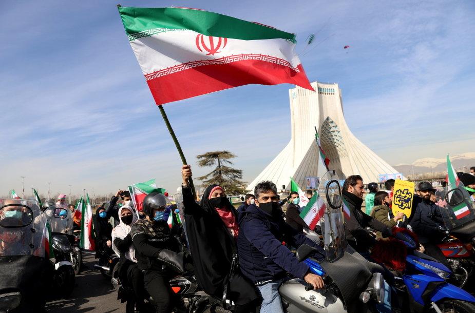 Irane minimos 42-osios Islamo revoliucijos metinės