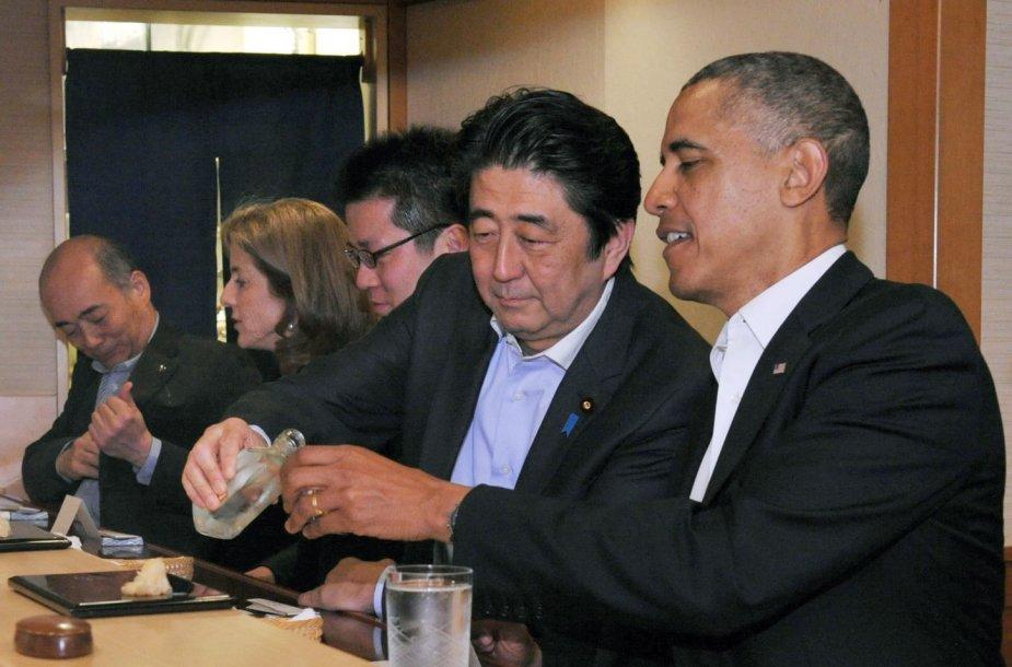 Barackas Obama restorane Japonijoje