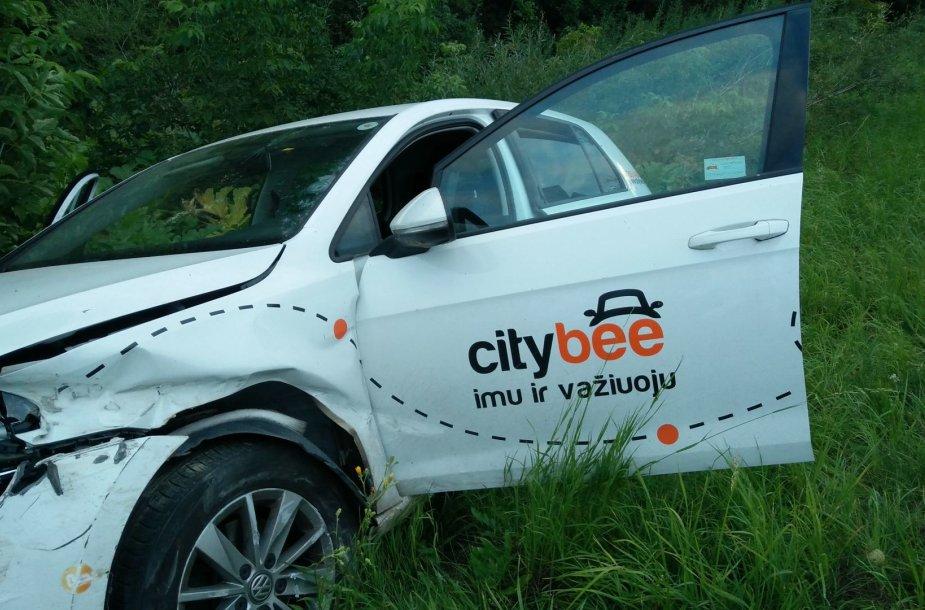 """Citybee"" automobilio ""Volkswagen Golf"" avarija"
