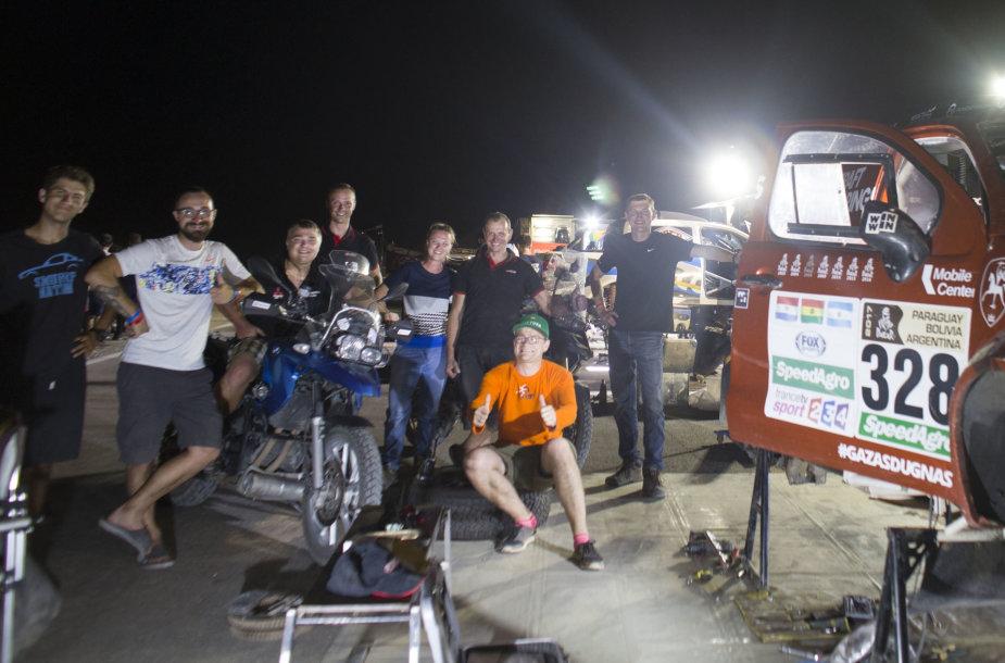 Keliautojų motociklais susitikimas su Dakaro lietuviais 2017 m. Sausio 13 d.