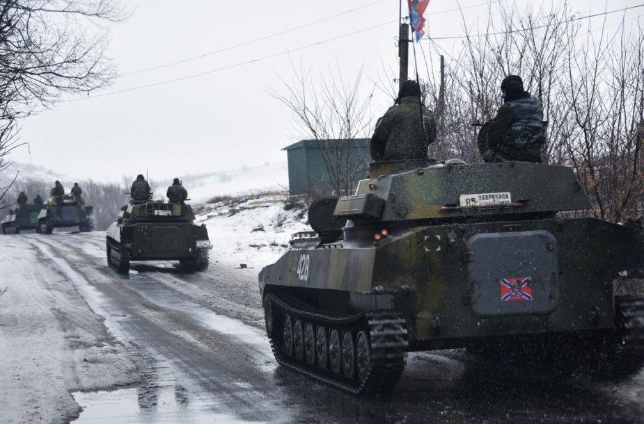 Rusijos teroristai Ukrainos rytuose.
