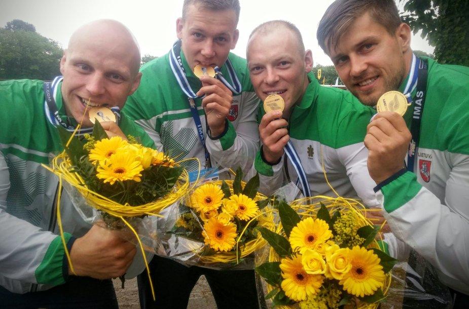 Artūras Seja, Aurimas Lankas, Edvinas Ramanauskas ir Ignas Navakauskas