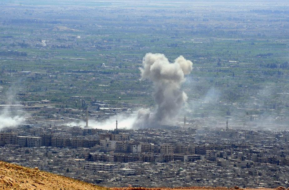 Ar Sirijos režimas vėl panaudojo cheminį ginklą?